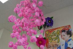 来年は囃子屋台にさくらを飾り、盛大にお祭りが行われますように‼